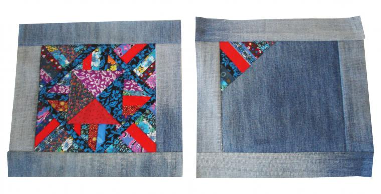 We sew a bag of patchwork and old jeans. DIY tutorial with pictures. Шьем сумку  из лоскутков и старых джинсов. МК