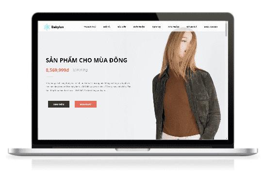 Giao diện blog landing page bán hàng một sản phẩm