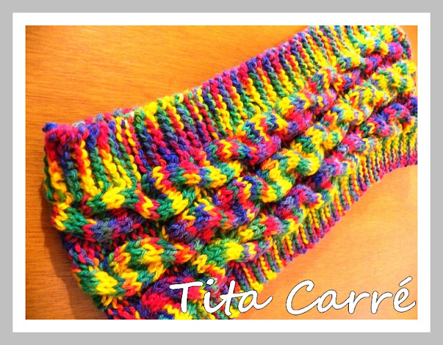 Gola Folia em tricot
