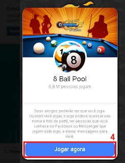 4 - Irá abrir um janela  mostrando a capa, ícone e nome do jogo, logo abaixo clique no botão JOGAR AGORA.
