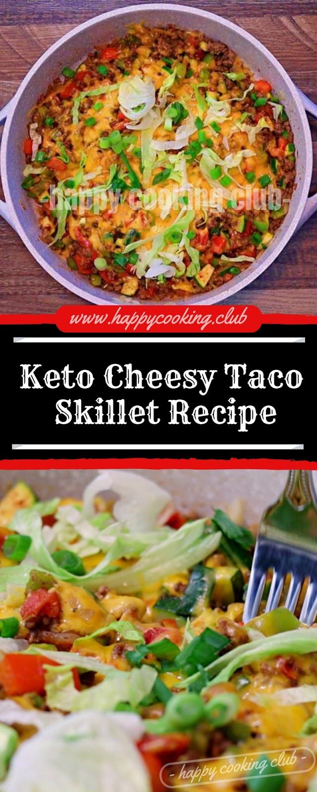 Keto Cheesy Taco Skillet Recipe