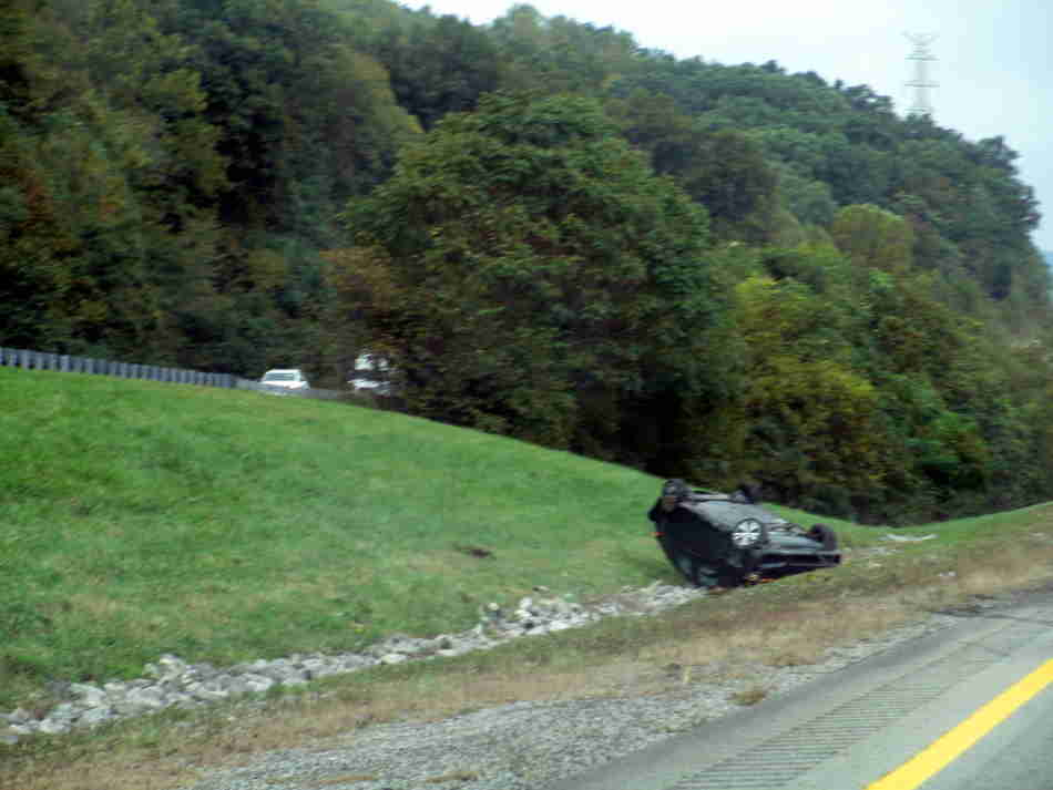 Jim Young Reporter: Accident ties up traffic on Westbound I