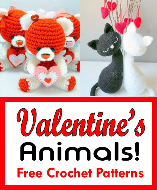 Free Valentine's Animals Crochet Patterns!