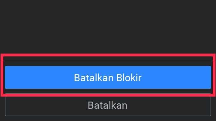 cara menghapus daftar blokir di wa