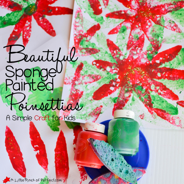 sponge painted christmas sock craft beautiful sponge painted poinsettias a simple craft for 7170