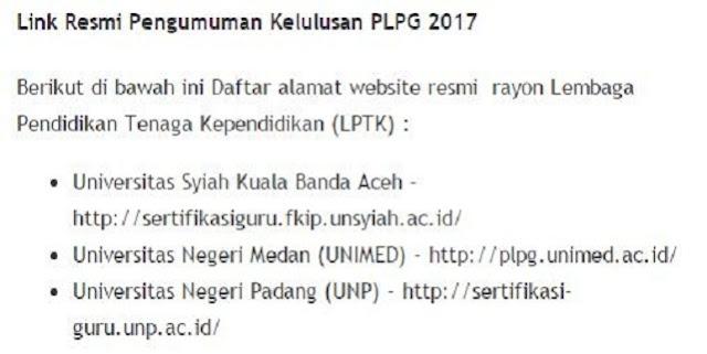 Pengumuman PLPG Terbaru