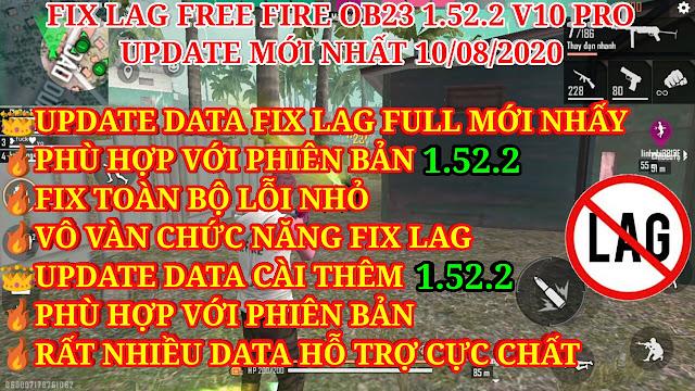 DOWNLOAD HƯỚNG DẪN FIX LAG FREE FIRE OB23 1.52.2 V10 PRO MỚI NHẤT - UPDATE TOÀN BỘ DATA FULL VÀ DATA CÀI THÊM