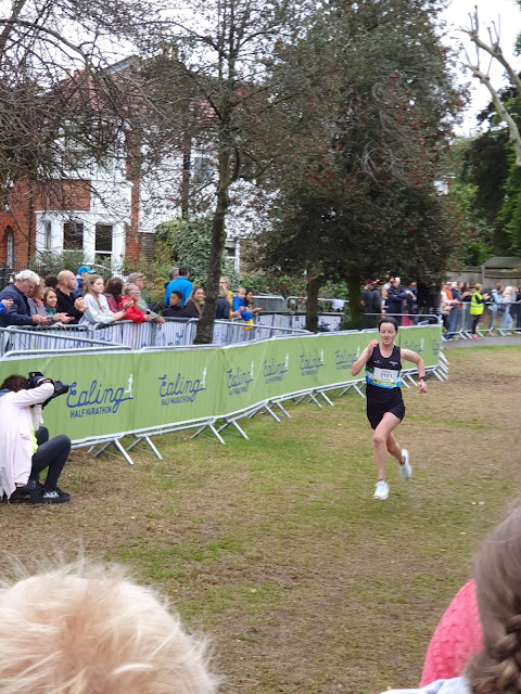 Sprint finish at Ealing Half marathon