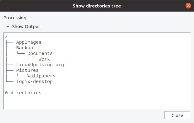 Rclone tarayıcı dizin ağacı