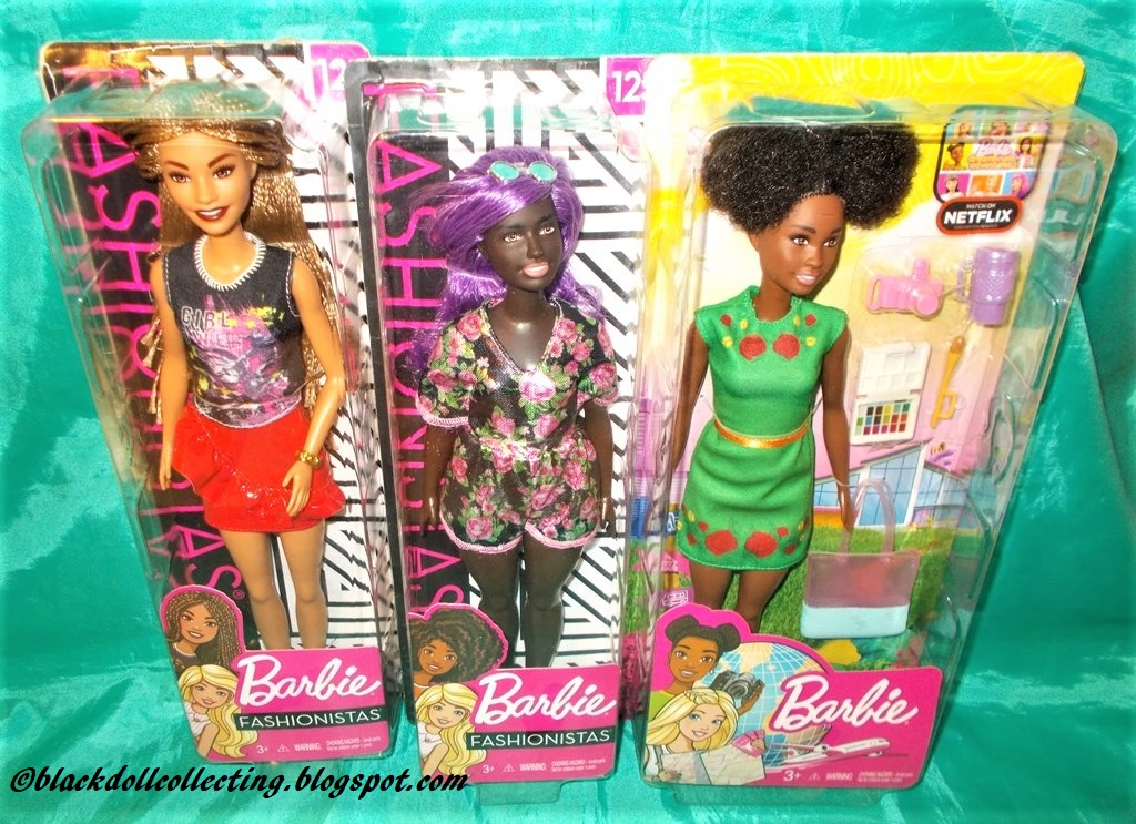 African American with Purple Hair /& Floral Dress Barbie Fashionistas Doll 125