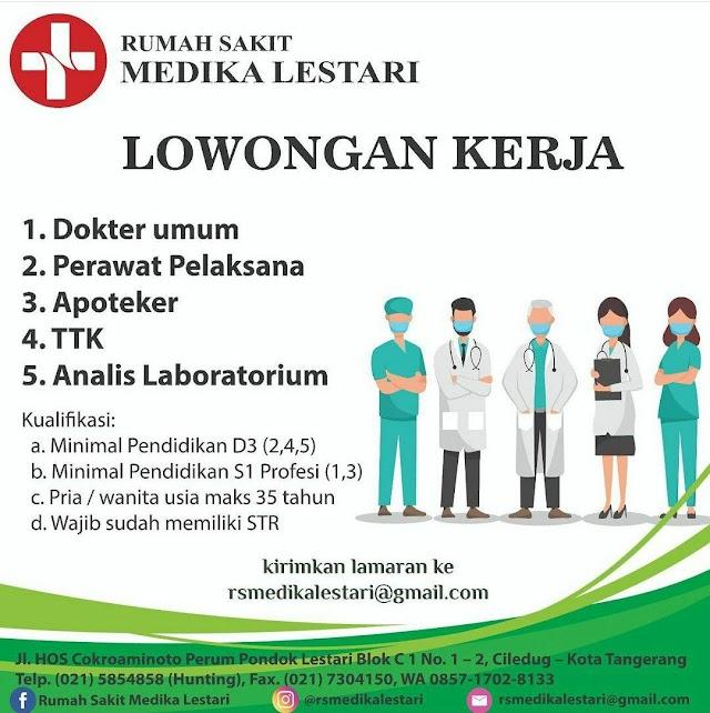 Loker Dokter Rumah Sakit Medika Lestari Tangerang