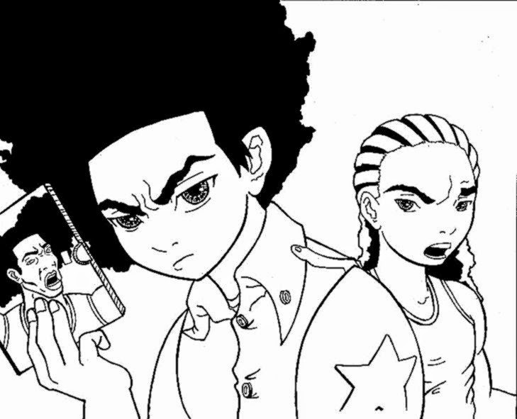 the boondocks riley coloring pages - photo#27