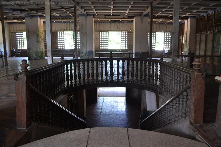 Lazi Convent's grand staircase