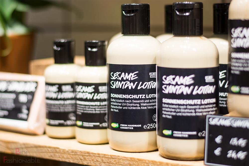 Sesame Suntan Lotion in Store