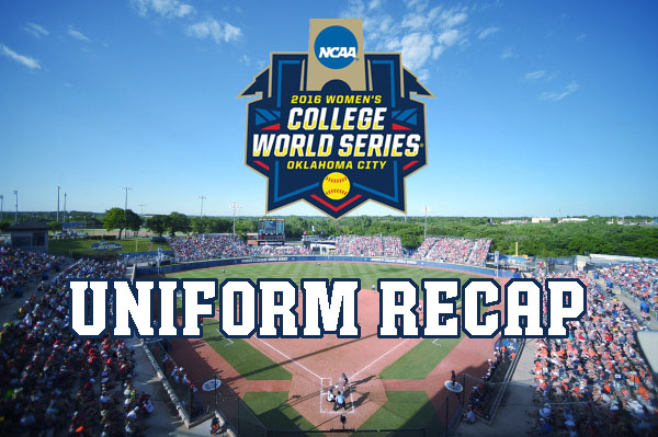 WCWS 2016 Uniform Recap - ASA Hall of Fame Stadium, Oklahoma City