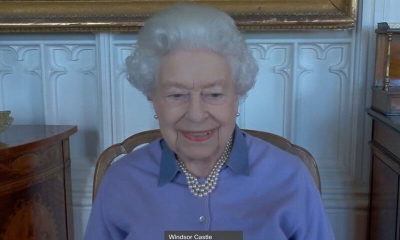 Queen Elizabeth speaks for the first time since the death of her husband, Prince Philip