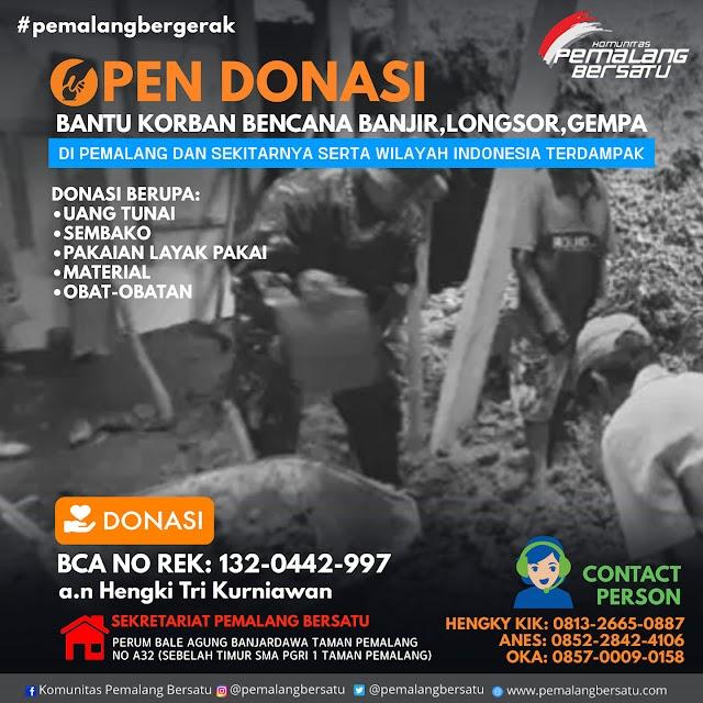 Komunitas Pemalang Bersatu Kembali Open Donasi