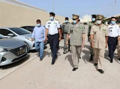 الفريق مسغارو يتفقد الأسطول الجديد من سيارات إدارة الأمن..-صور