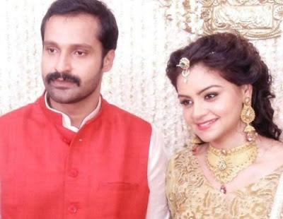 Anchor Shilpa Bala and Dr. Vishnu Gopalan engagement