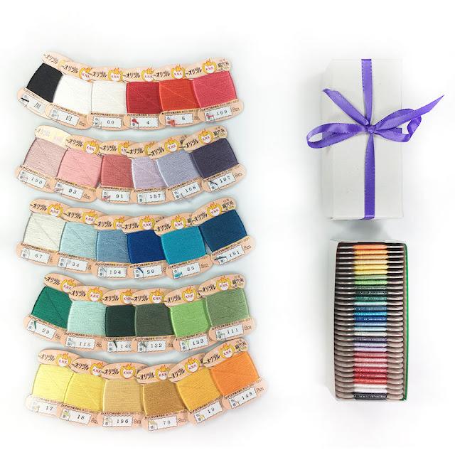 Kanagawa Anaito Silk Mini-Card Sets   Button Hole Twist Thread   Embroidery and Jewelry Silk Thread
