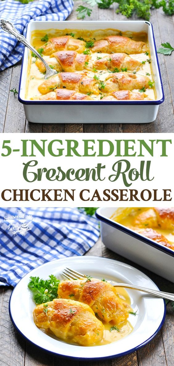 5-INGREDIENT CRESCENT ROLL CHICKEN CASSEROLE