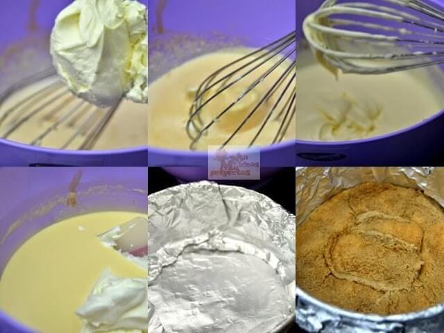 preparacion paso a paso de tarta helada de tiramisu