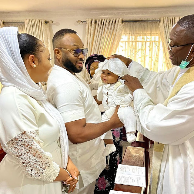Check out more Photos of Olakunle Churchill and Rosy Meurer's son' christening