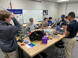 Montgomery Catholic Robotics Teams Head to State Competition 1