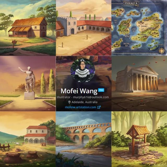 Fantasy environment concept art,maps and game board - Game Design - concept art