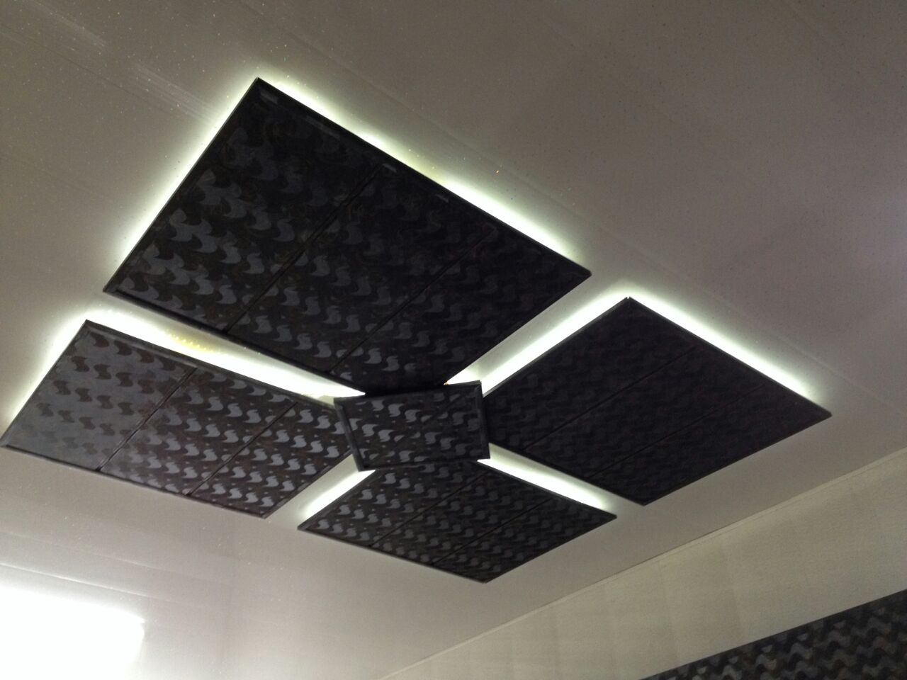 how to fix pvc ceiling panels