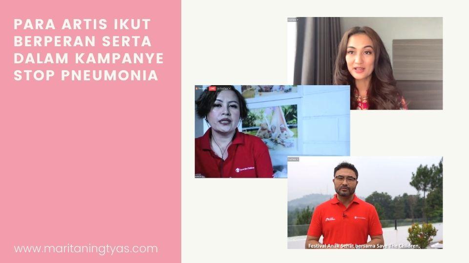 artis pada webinar hari pneumonia dunia