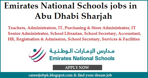 Emirates National Schools jobs in Uae