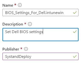 Set Dell BIOS settings through Intune and PowerShell - Syst
