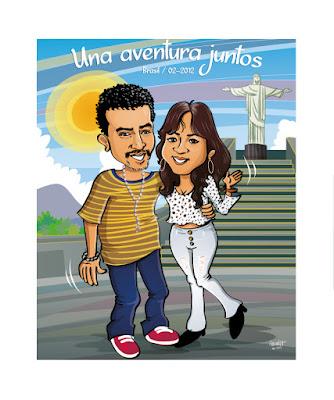 caricatura visita  a brasil por te hago tu caricatura