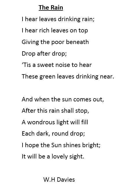 "Poem The Rain""Poem Daffodils"""