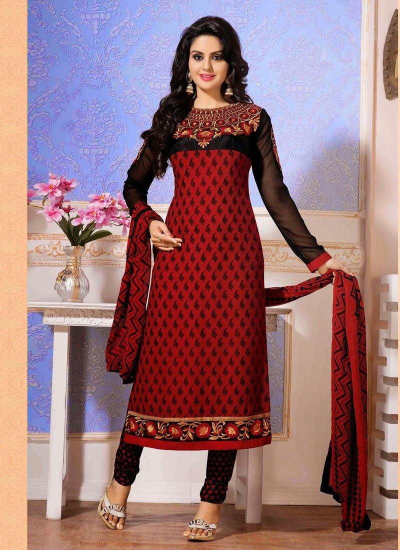 Designer Churidar Suits Collection 2014 Pakistani