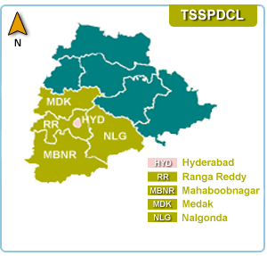 TSSPDCL District Map