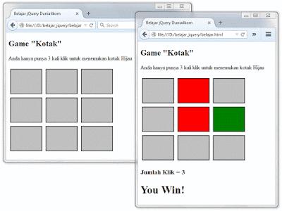 Belajar Membuat Game Sederhana Dengan Html, Jquery, HTML