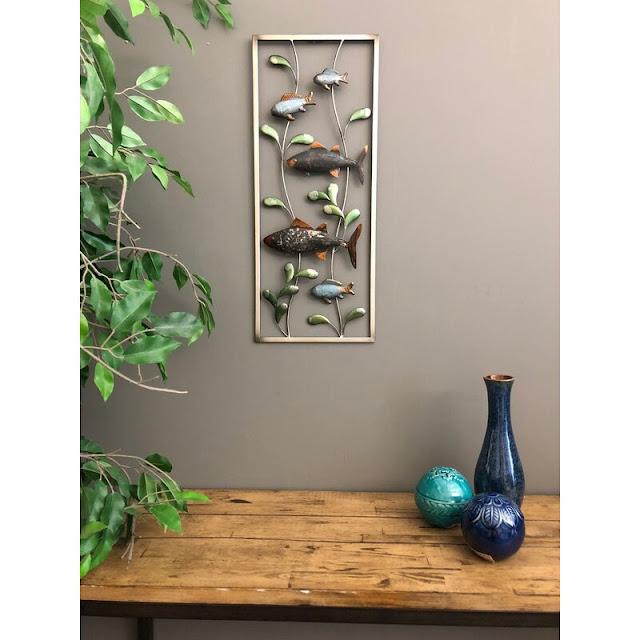 Metal 3 Dimensional Fish Wall Decor