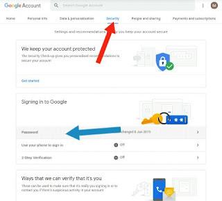 Cara Mengganti Password Gmail dari Laptop atau Pc