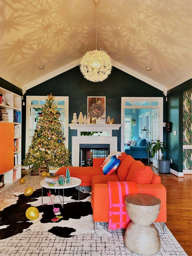 Christmas Decor in Living Room
