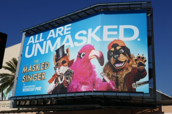 Masked Singer season 2 finale billboard