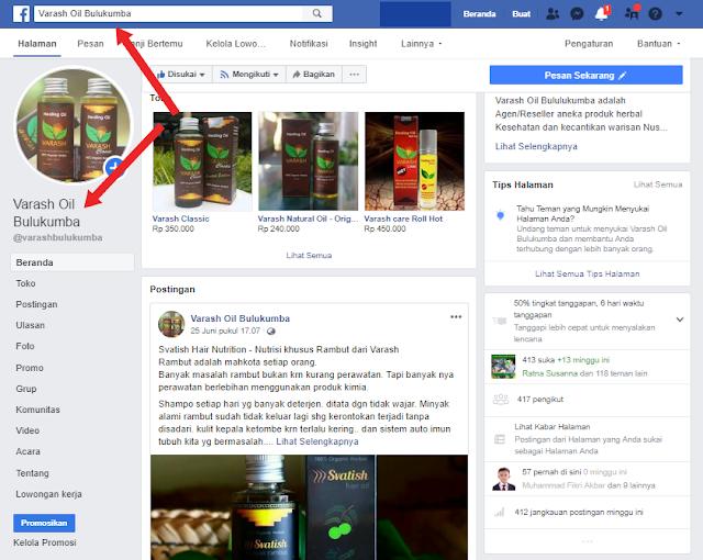 Fanspage Varash Oil Bulukumba
