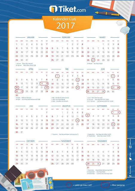 Inilah Kalender Cuti 2017, Yakin Gak Mau Liburan?