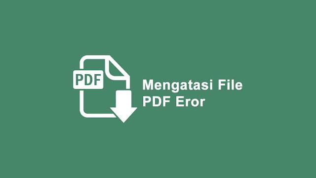File PDF tidak bisa di buka