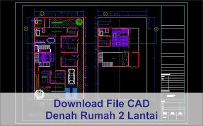 Download Denah Rumah Minimalis 2 Lantai File Autocad Arsimedia