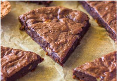 FUDGE PROTEIN BROWNIES #brownies
