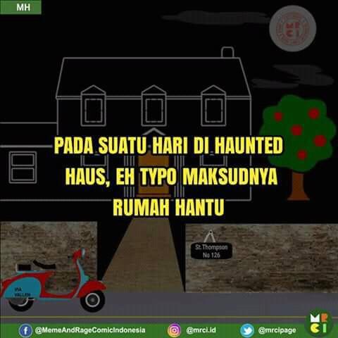 Komik Meme Episode Rumah Hantu