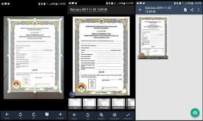 Aplikasi Scan Dokumen di Android