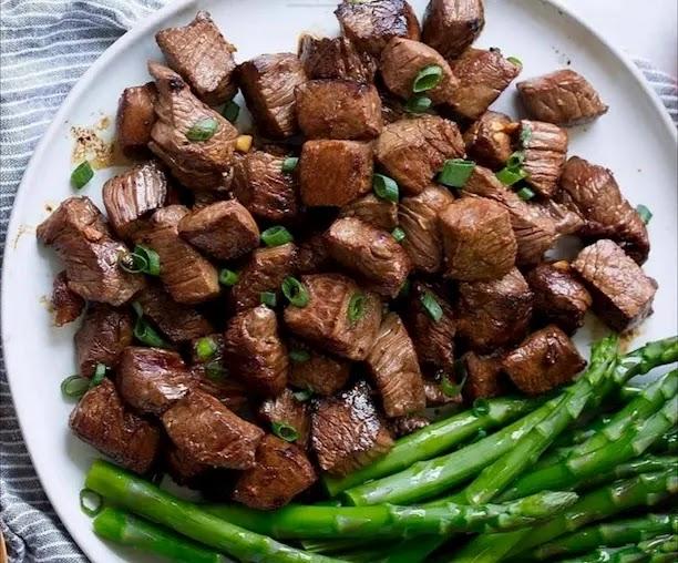 Keto Honey Garlic Steak Bites